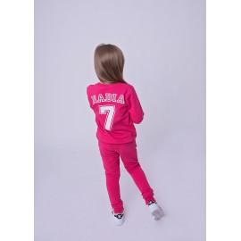 Dziewczęca bluza personalizowana z numerem