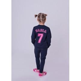 Dziewczęca bluza personalizowana z różowym nadrukiem