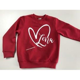Bluza personalizowana z sercem